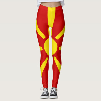 Leggings Bandera de Macedonia llena