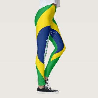 Leggings Bandera del Brasil llena