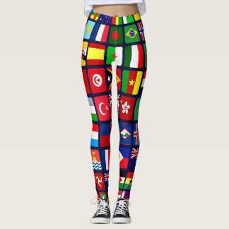 Leggings Banderas internacionales