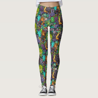 Leggings Bestiario de Cthulhu Lovecraft Mythos Chibi