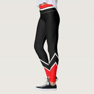 Leggings Blanco y negro rojos