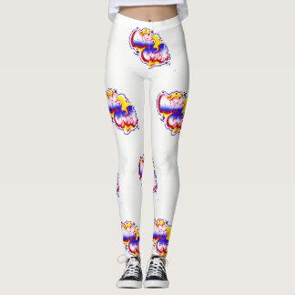 Leggings Camiseta BRILLANTE y COLORIDA del POLLUELO de BOSS
