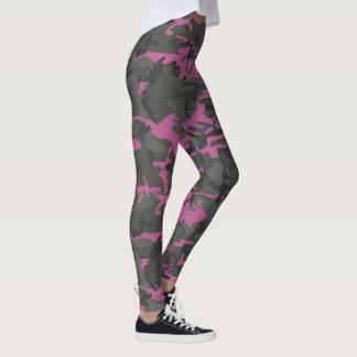 Leggings Camo con rosa