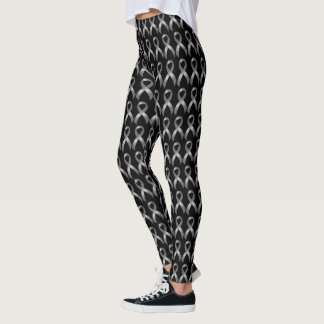 Leggings Cáncer y diabetes grises del tumor cerebral de la