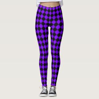 Leggings Casillas negras púrpuras y