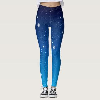 Leggings Cielo nocturno estrellado azul profundo