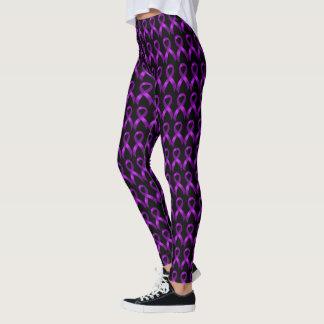 Leggings Cinta púrpura - Alzheimers y Crohn y colitis