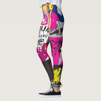 Leggings Collage de los elementos de Hip Hop cuatro