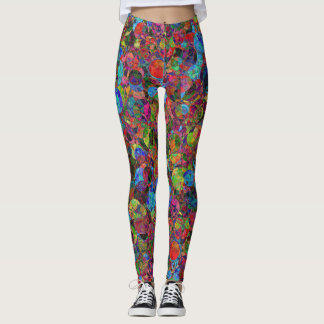 Leggings Colorful psychedelic pattern -