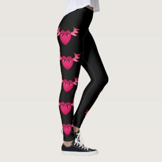 Leggings Corazón con alas rosa divertido