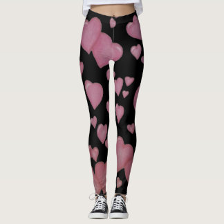 Leggings Corazones rosados