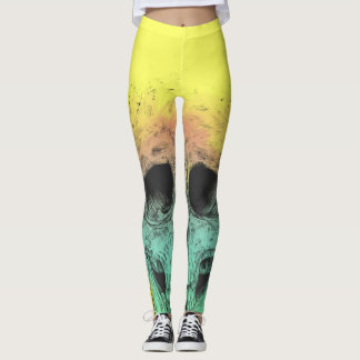 Leggings Cráneo del arte pop