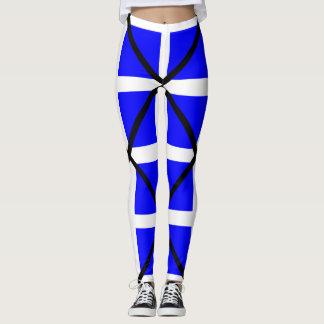 Leggings Cruz blanca azul de Mike