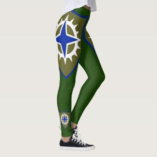 Leggings décimosexto Polainas del cuerpo del ejército