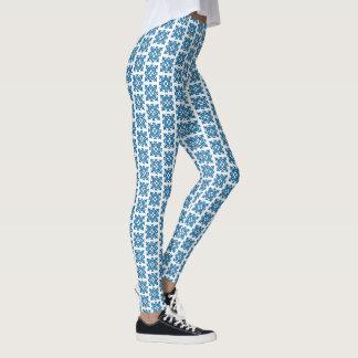 Leggings Diseño abstracto complejo del vintage del azul de