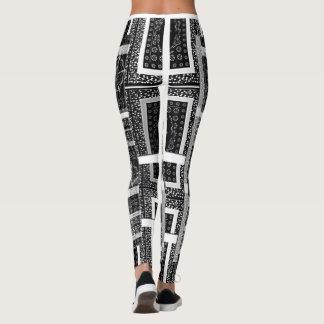 Leggings Diseño agradable negro y blanco imponente bonito