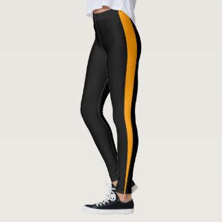 Leggings Diseño anaranjado elegante de la raya