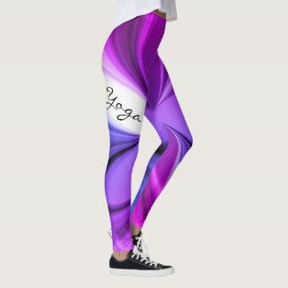 Leggings Diseño de mármol púrpura de la yoga de la acuarela