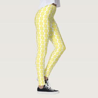 Leggings Diseño floral acentuado del extracto amarillo del
