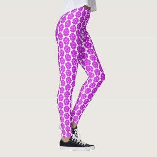 Leggings Diseño floral redondo del extracto púrpura del