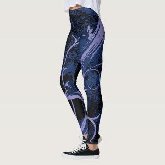 Leggings Diseño púrpura del extracto de la flor