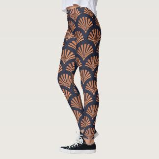 Leggings El art déco Shell modela las polainas de cobre