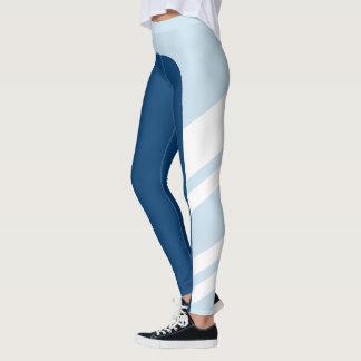 Leggings El azul asimétrico de la banda lateral sombrea las