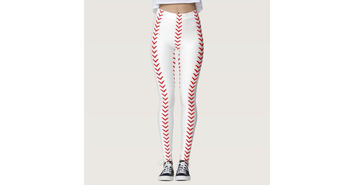 Leggings El béisbol cose las polainas (de las costuras) | Zazzle.es