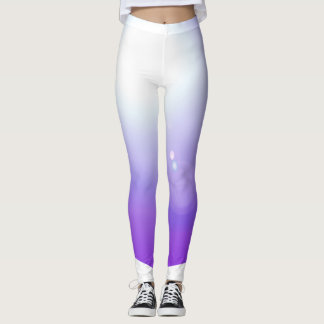 Leggings El entrenamiento púrpura de la moda de las