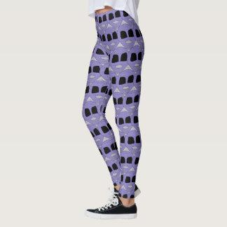 Leggings El extranjero púrpura fresco dirige el modelo