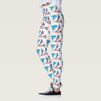 Leggings El Macaw colorido repite mecánicamente las
