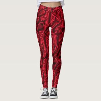 Leggings El rojo liso coloreó las polainas impresas