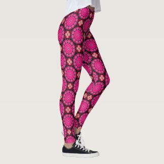 Leggings El rosa hermoso florece 004 01, mandala de la