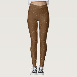 Leggings El vintage Brown circunda las polainas