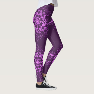 Leggings Elemento floral de la púrpura de los círculos