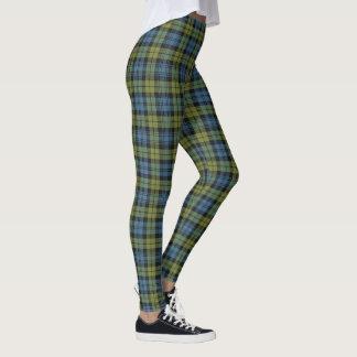 Leggings Escocés tela escocesa azul y verde de Campbell de