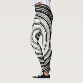 Leggings Espiral blanco y negro