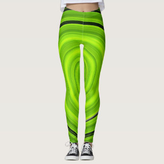 Leggings Espiral verde