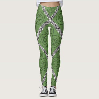 Leggings Espirales y diamantes