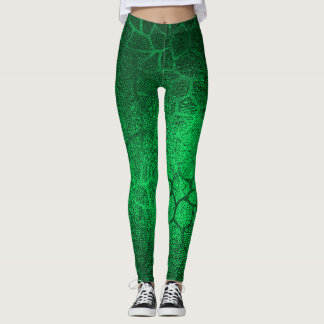 Leggings Estampado de animales del verde esmeralda