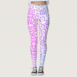 Leggings Estampado de animales púrpura del gato de leopardo