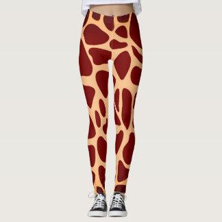 Leggings Estampado de girafa del animal del safari