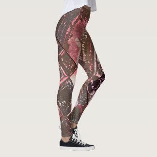 Leggings Estaño y polainas abstractas del rosa II