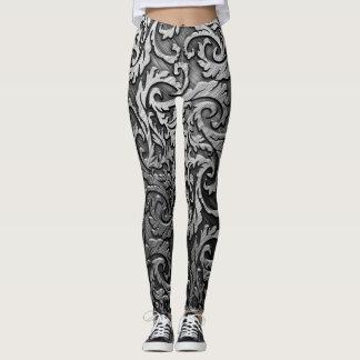 Leggings estilo femenino del jinete de las polainas oscuras
