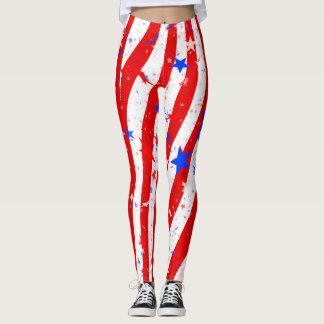 Leggings Estrellas y polainas americanas del orgullo de las