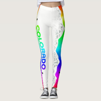 Leggings Etiqueta del arco iris de Colorado centro de