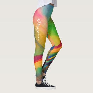 Leggings Extracto colorido con nombre -