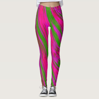 Leggings Extracto rosado brillante del chasquido del color