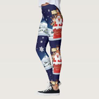 Leggings Feliz Navidad del equipo de Santa