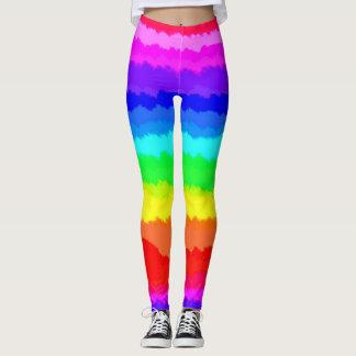 Leggings Filas del arco iris